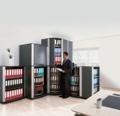 Bindertek® LockFile Carousel Modular Shelving